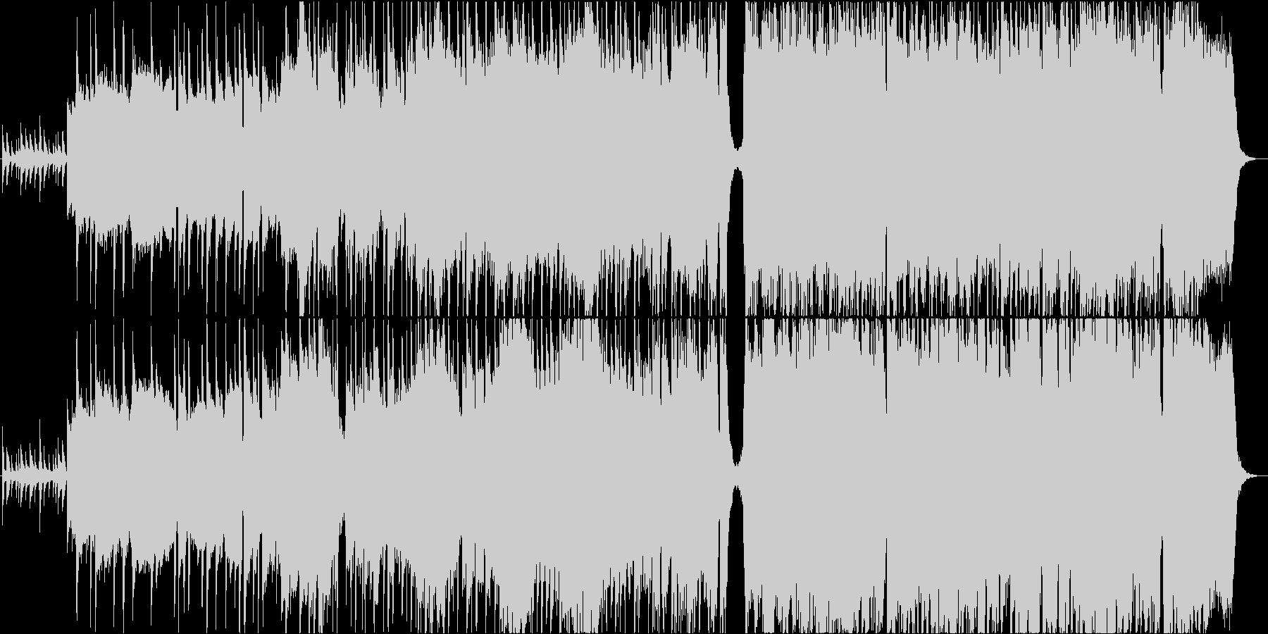 ストリングスとバンド編成のバラードの未再生の波形