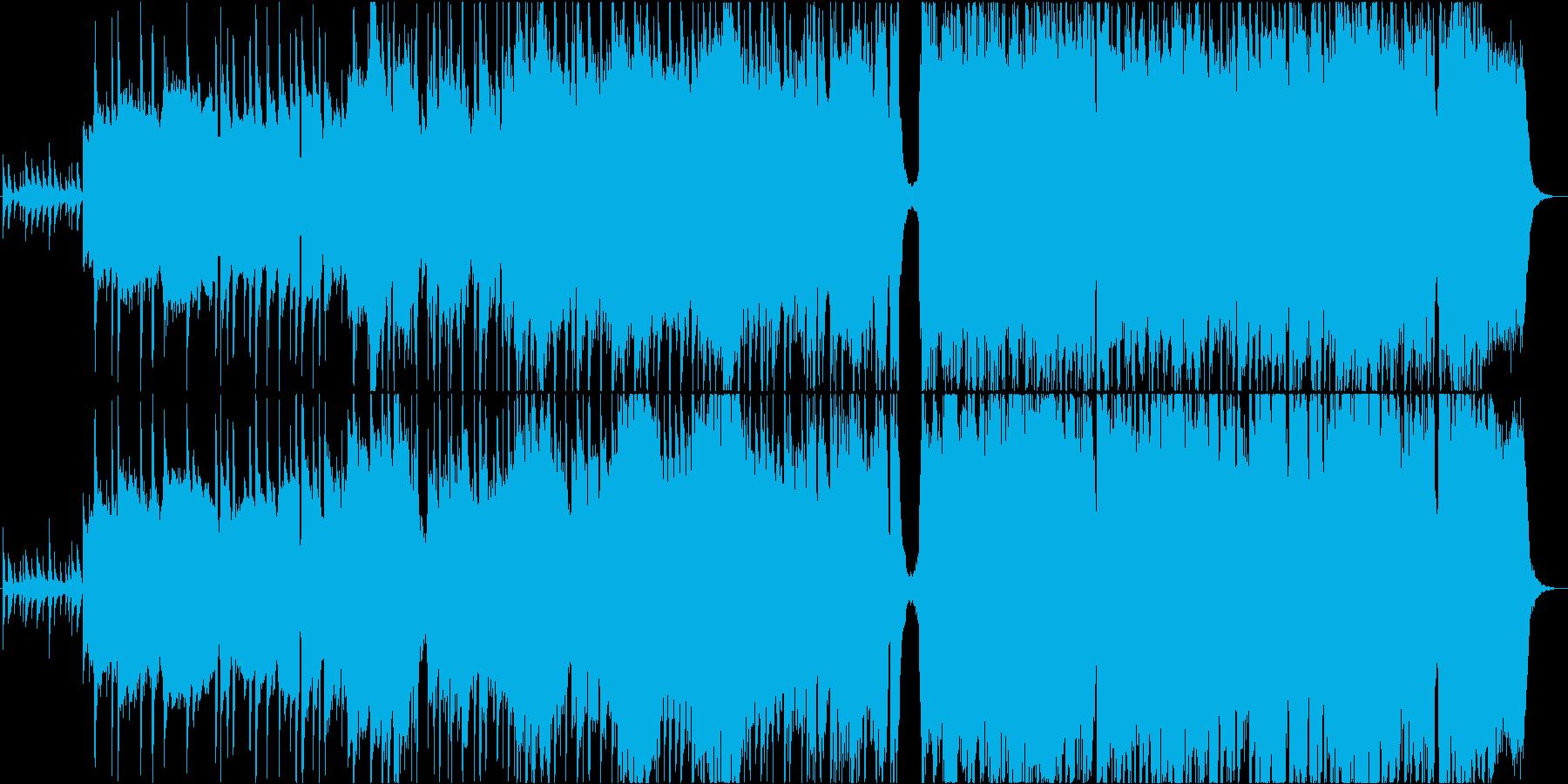 ストリングスとバンド編成のバラードの再生済みの波形