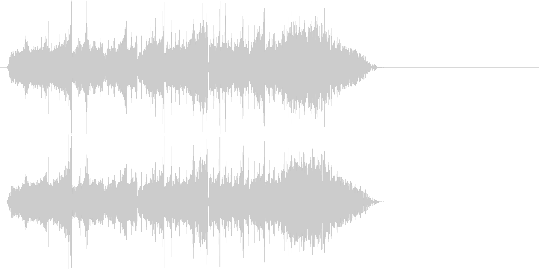 レコードの早送りからのストップ効果音の未再生の波形