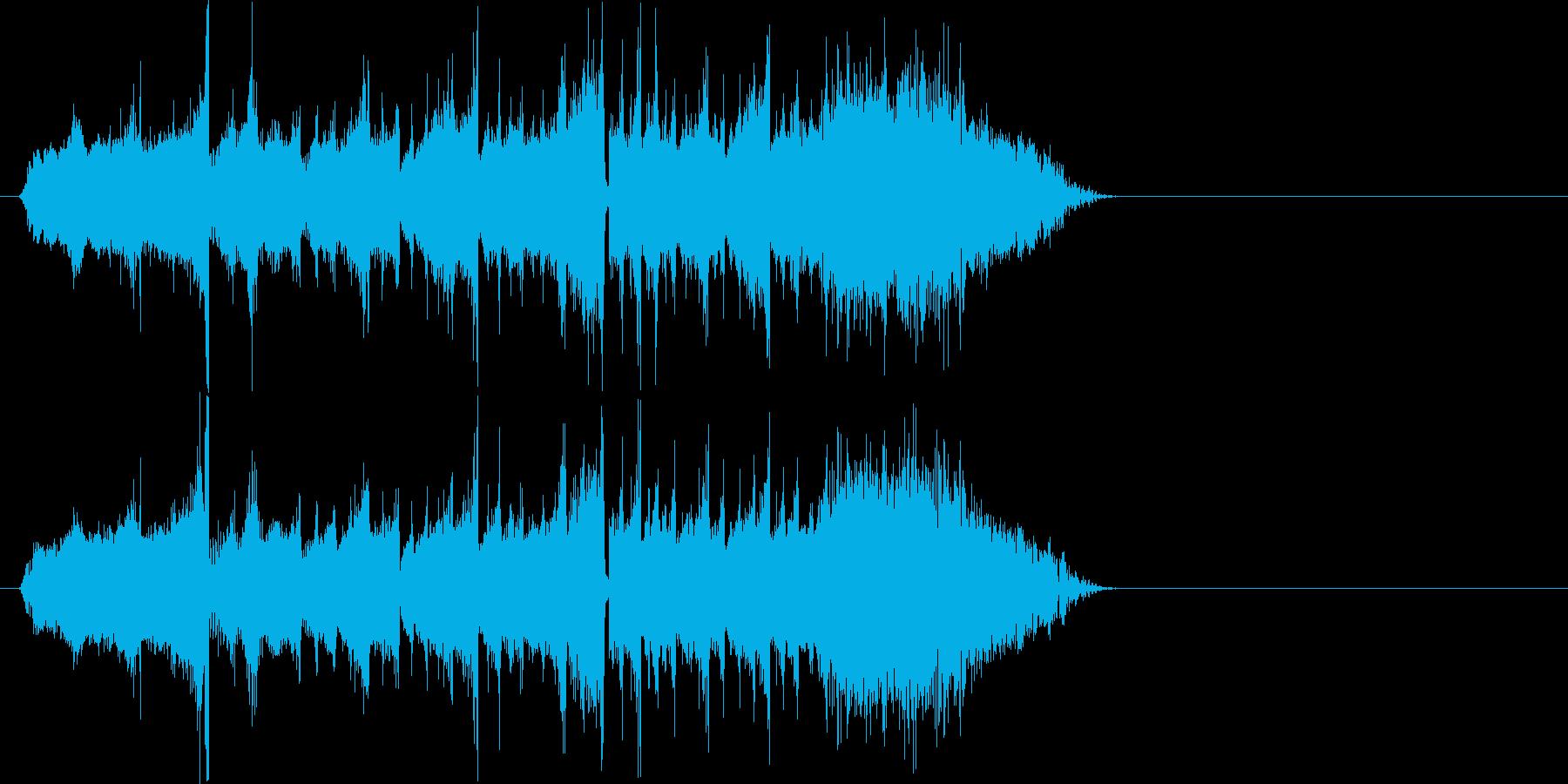 レコードの早送りからのストップ効果音の再生済みの波形