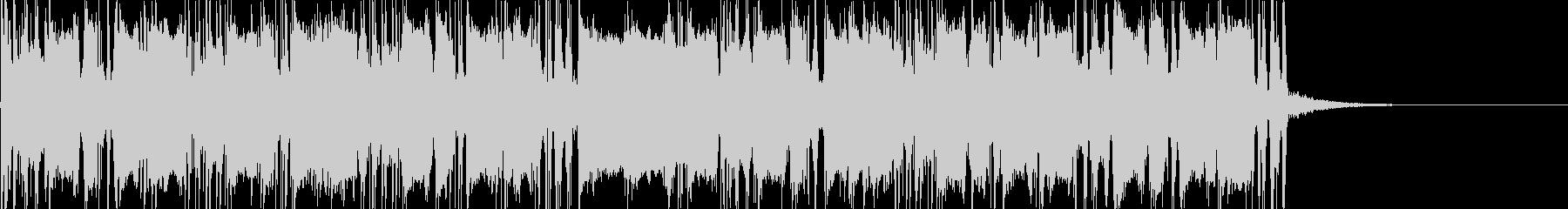 カッティングギターのダブルの未再生の波形