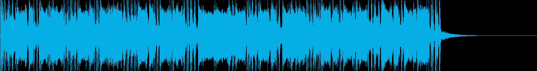 カッティングギターのダブルの再生済みの波形