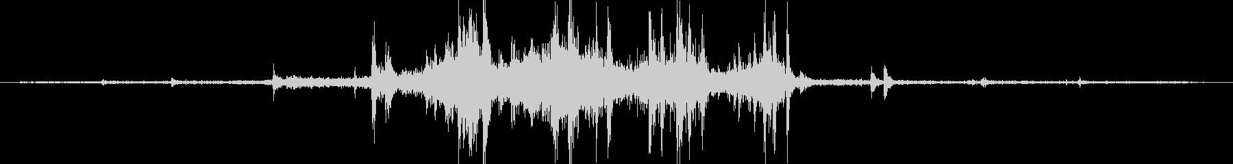 レトロな電車の通過音 ガタンゴトンの未再生の波形