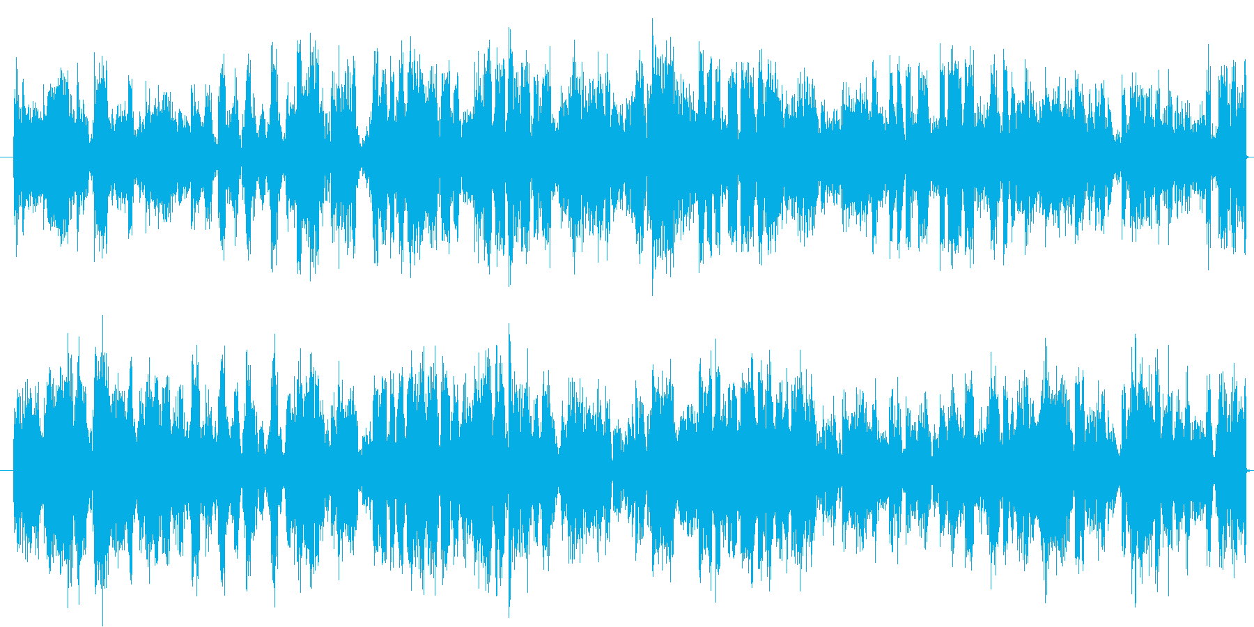 電撃のビリビリ音の再生済みの波形