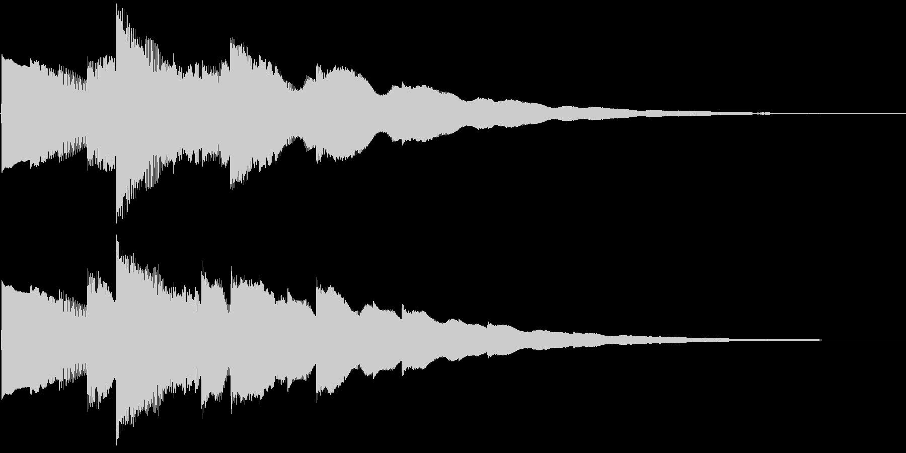 ベルの静かな場面転回音11の未再生の波形