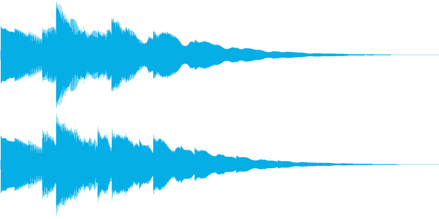 ベルの静かな場面転回音11の再生済みの波形