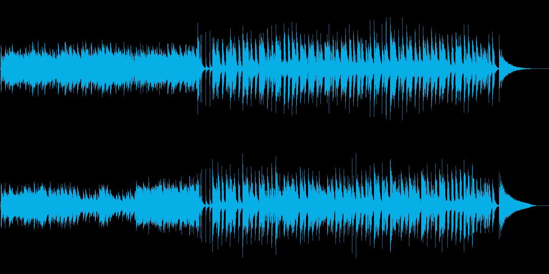優しい音色のアコースティクギター生演奏の再生済みの波形