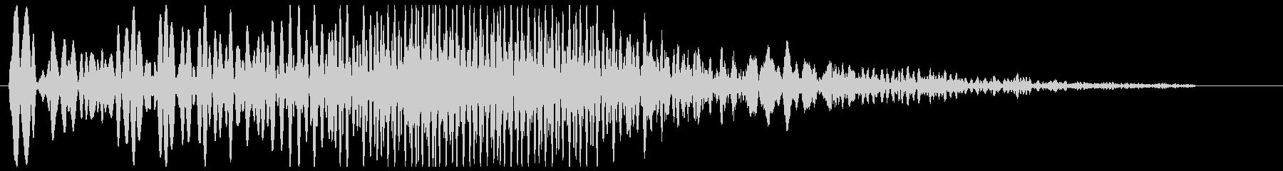 ブーゥンシューーッというマシン作動音の未再生の波形