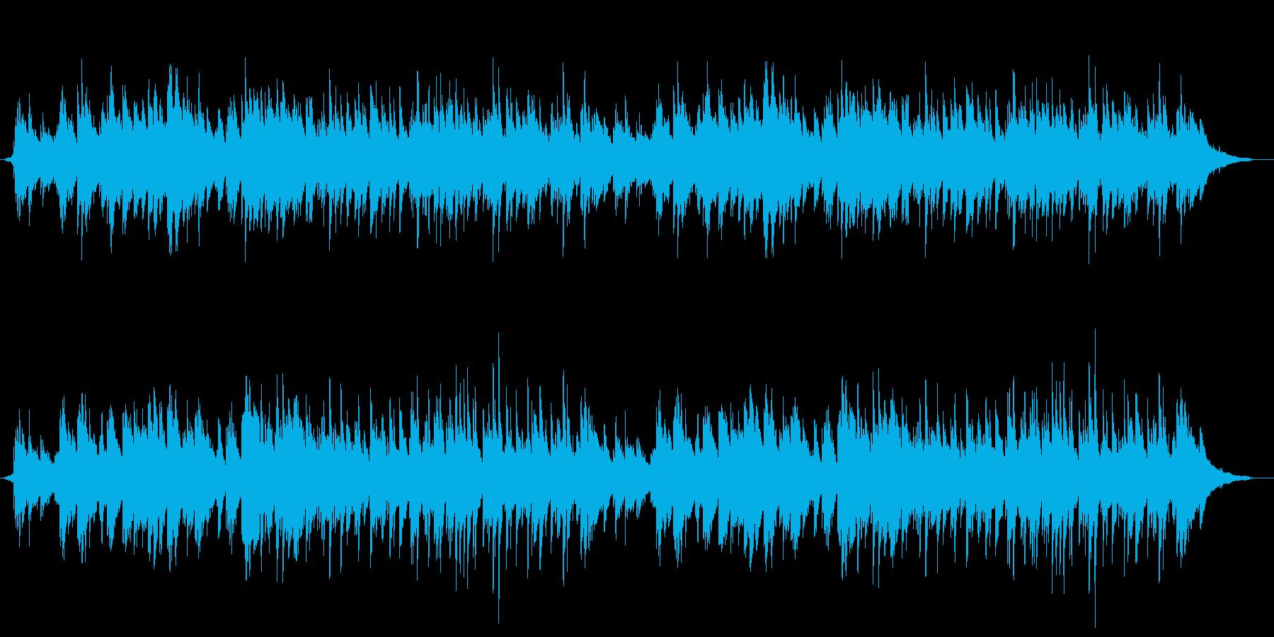 優しいゆったりとしたピアノ 3拍子の再生済みの波形