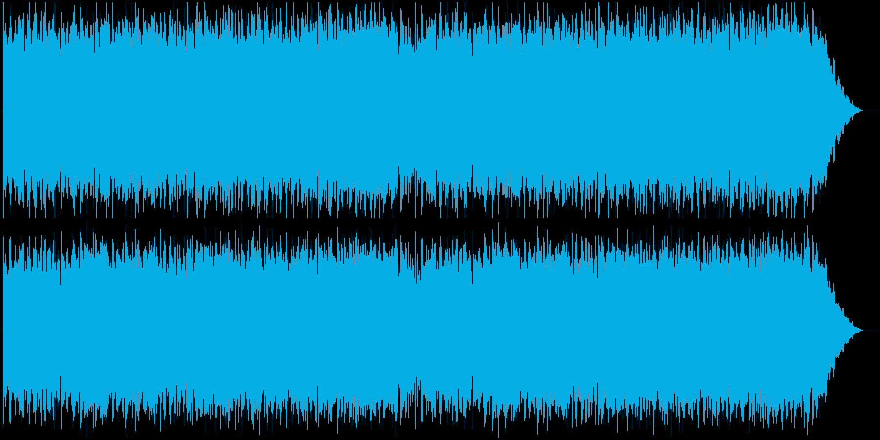 重厚感があるインダストリアルな曲の再生済みの波形