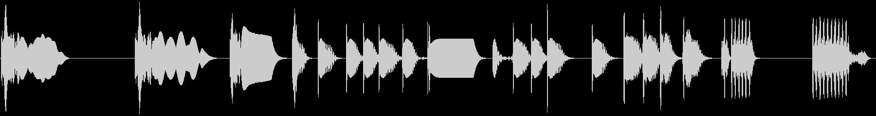 レーザーポップタイトジッピーの未再生の波形