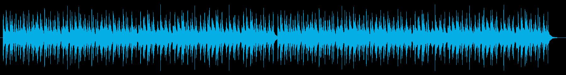 賑やかなお囃子の再生済みの波形