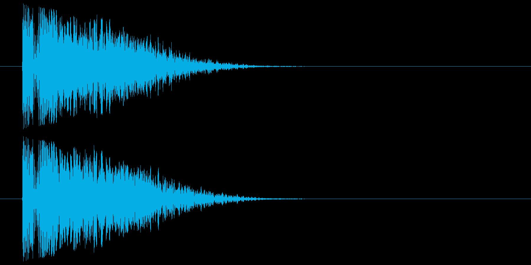 きついパンチ_衝撃音_倒れるの再生済みの波形