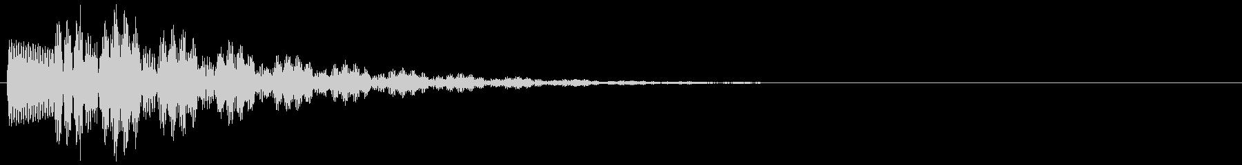 ピチーン(プッシュ、クリック、ボタン音)の未再生の波形