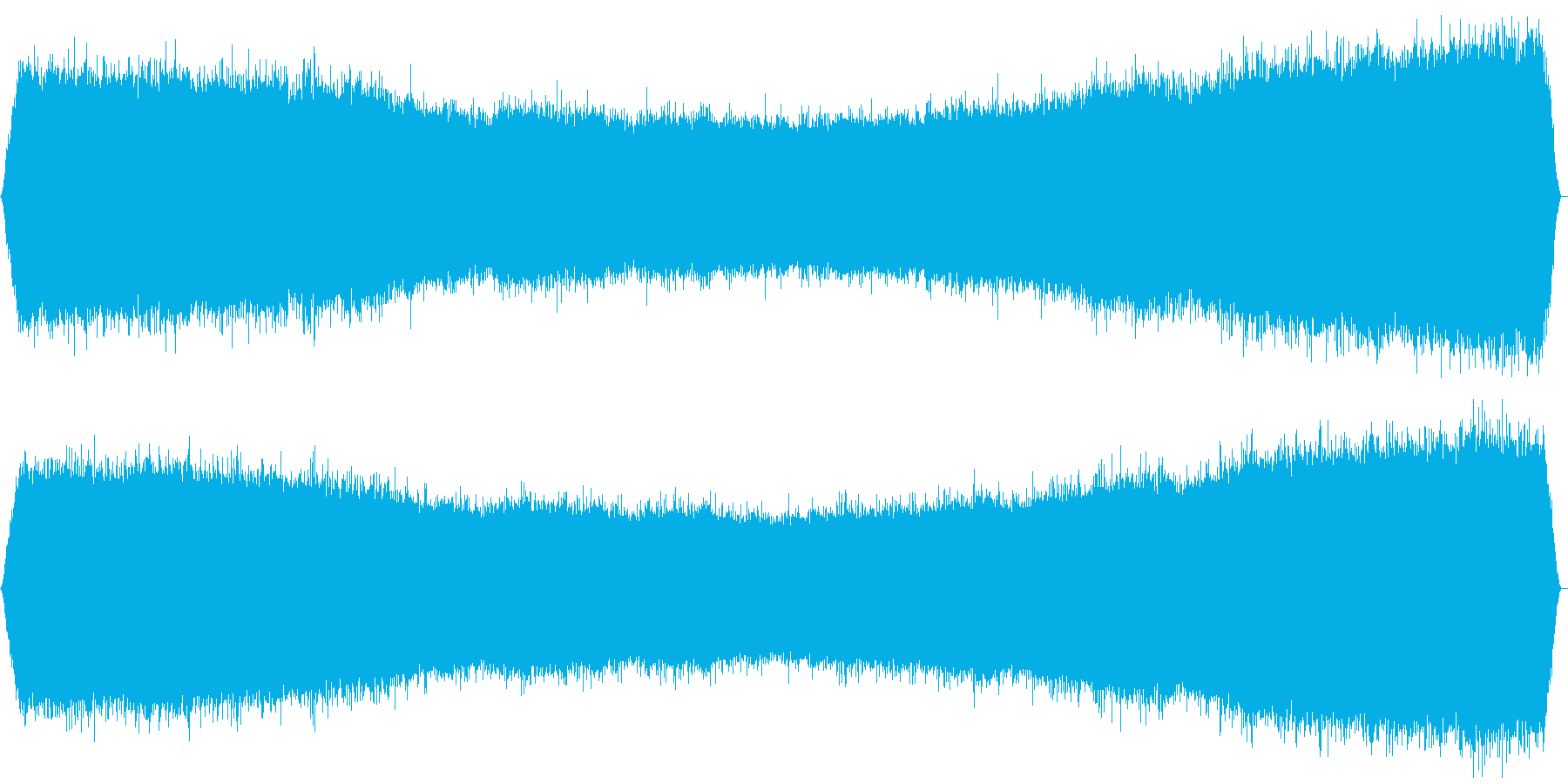 ミーンミーン 北海道の蝉 音景色 その4の再生済みの波形