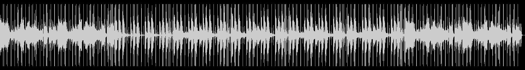 Lofiピアノのゆったりヒップホップの未再生の波形