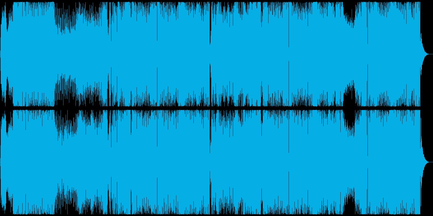 ポップでキュートなテクノポップの再生済みの波形