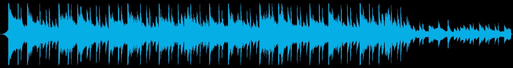 30秒企業BGMなどに明るくシンプルな曲の再生済みの波形