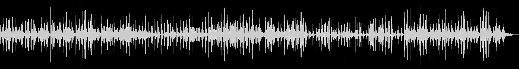 ピアノトリオ編成による静かなジャズワルツの未再生の波形