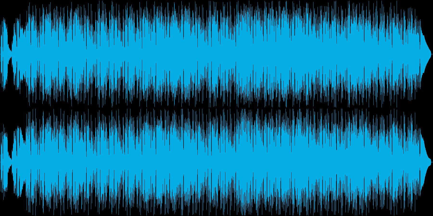 滑らかでややジャジーなチルアウトの再生済みの波形