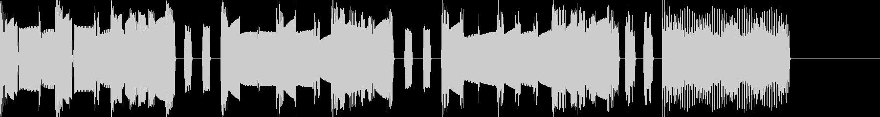 マリオ風ファミコン曲 ステージクリアの未再生の波形