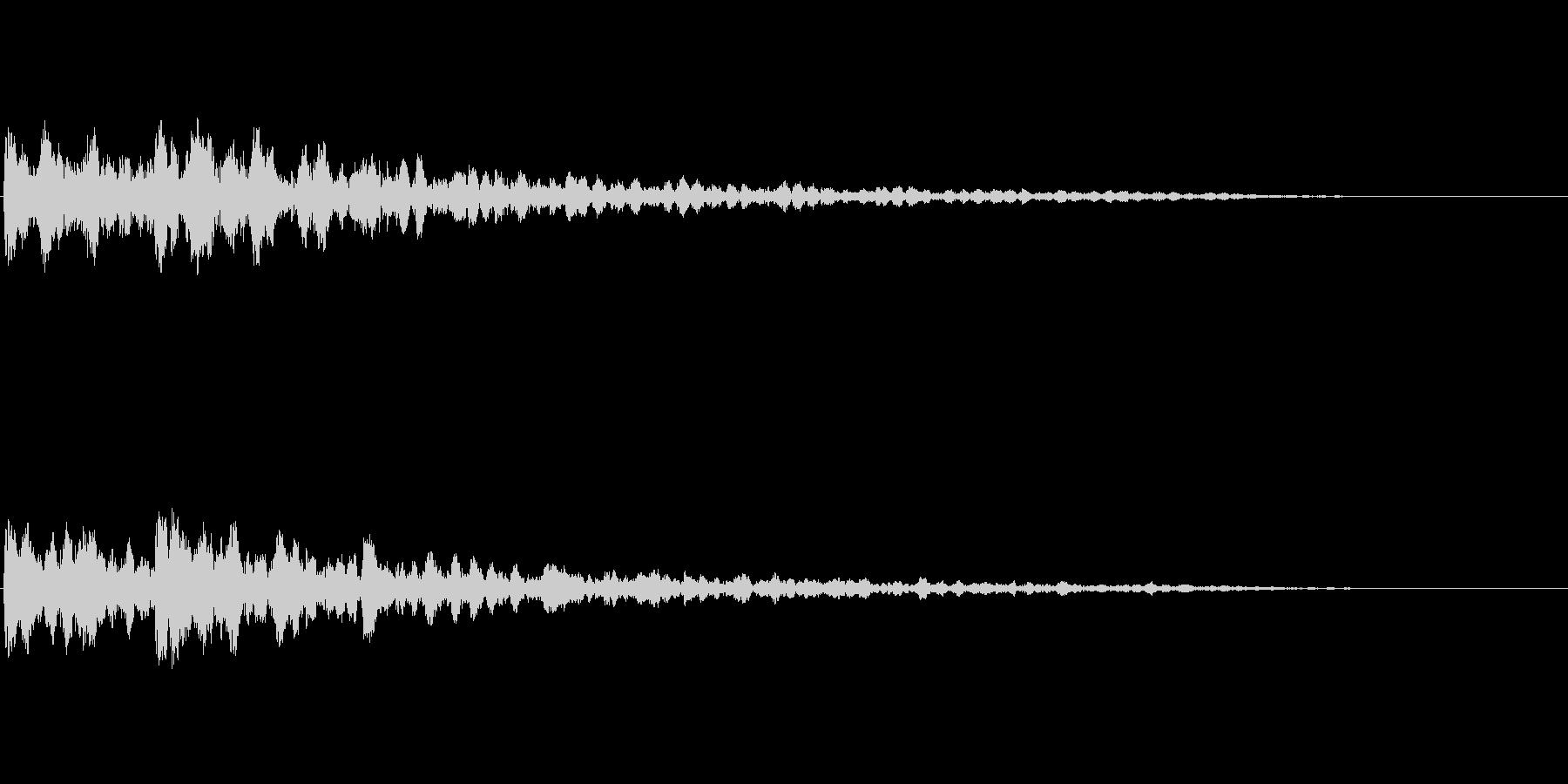 緊迫感を出すコーン音(6)の未再生の波形