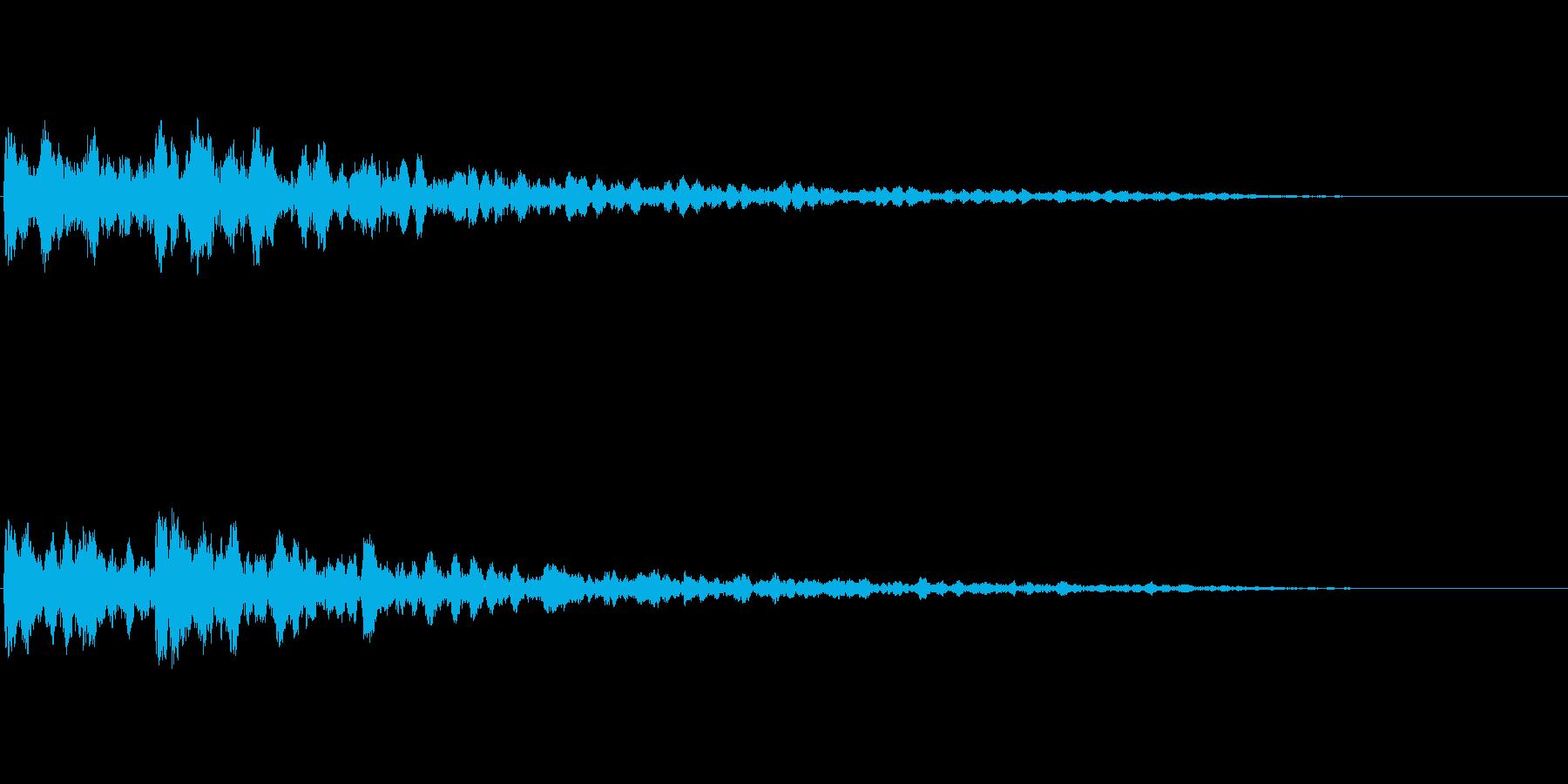 緊迫感を出すコーン音(6)の再生済みの波形