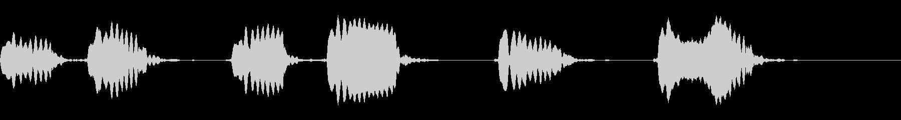 ピピッピピッピッピ!◇ホイッスル、笛の未再生の波形