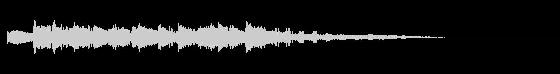 CM等、爽やかでほのぼのポップジングルdの未再生の波形