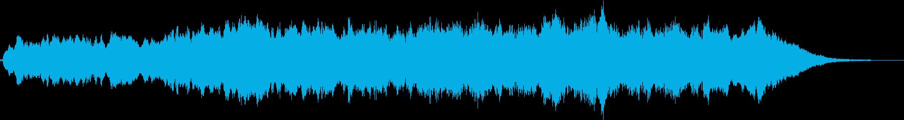 安らぎの電子アンビエントの再生済みの波形