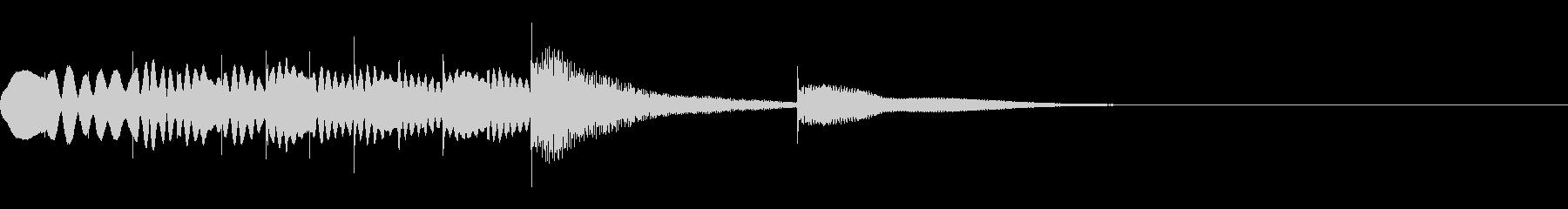 マリンバとグロッケンのジングル5の未再生の波形