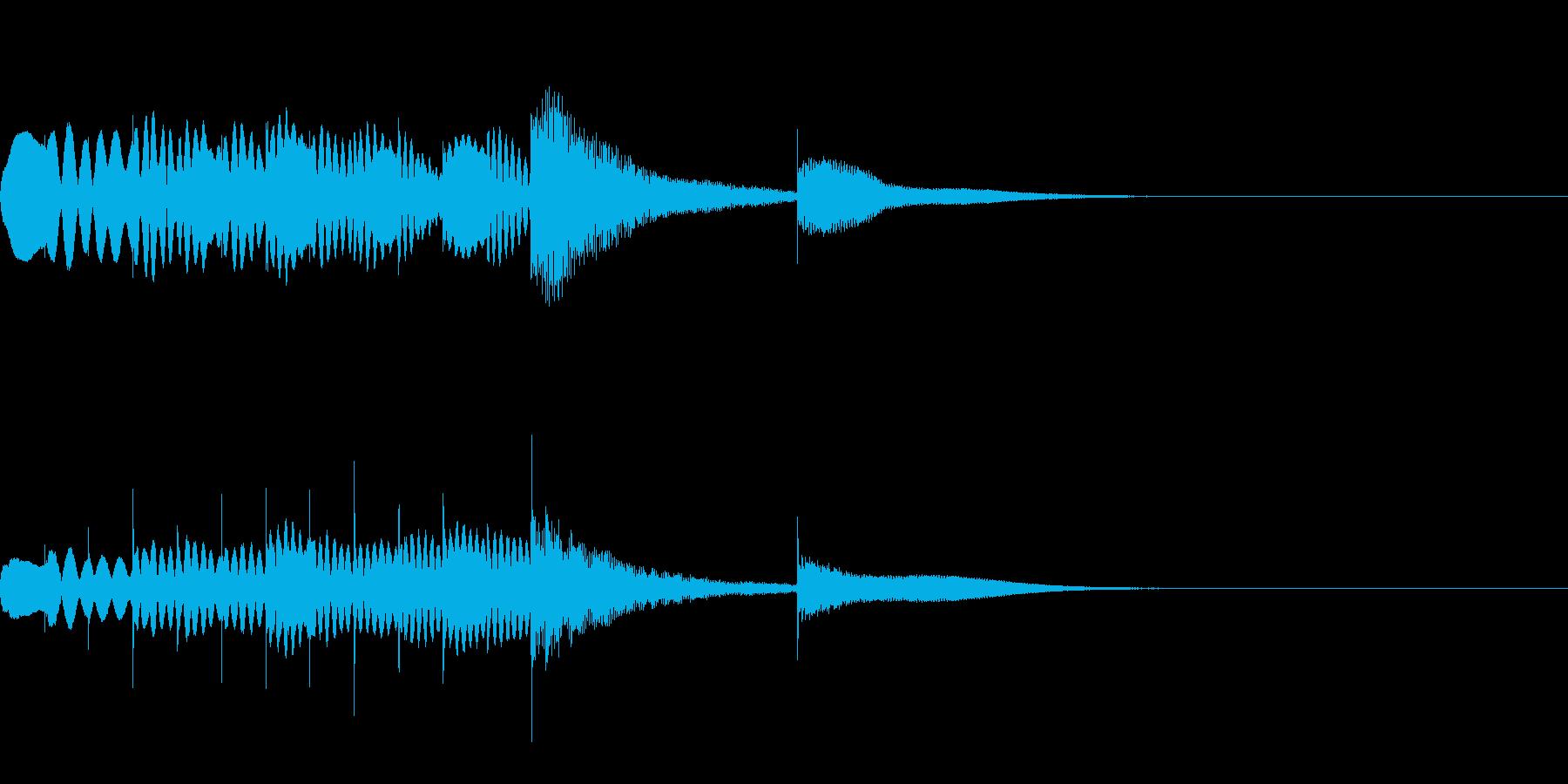 マリンバとグロッケンのジングル5の再生済みの波形