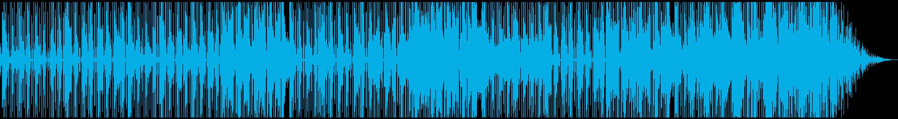 アルトサックスのダークで都会的なファンクの再生済みの波形