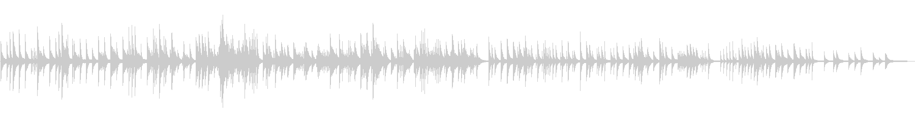秋を意識したピアノの未再生の波形