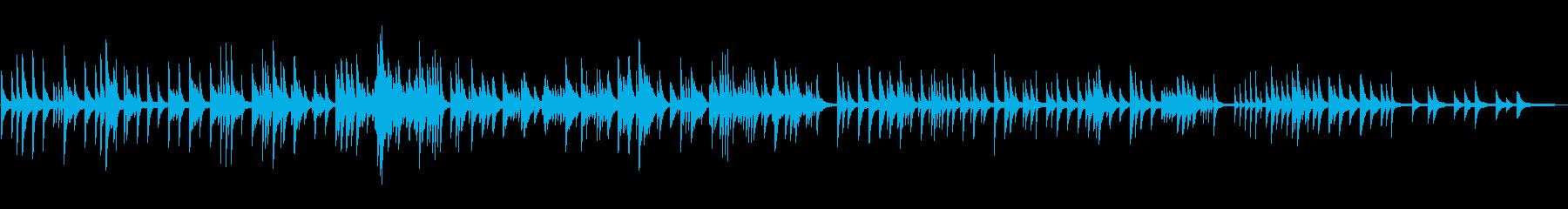 秋を意識したピアノの再生済みの波形