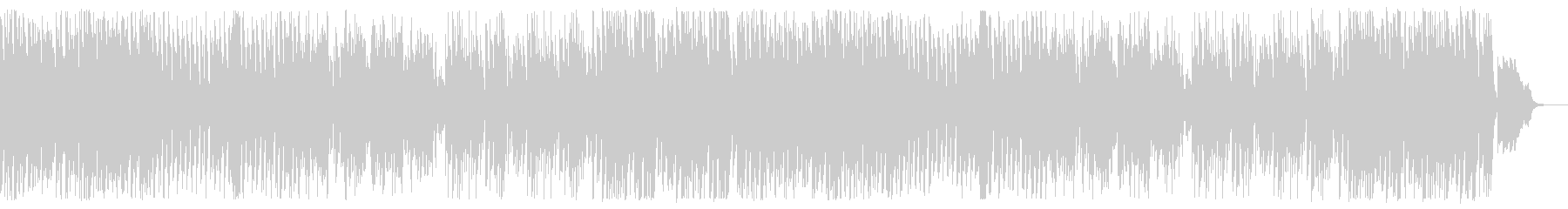 ハロウィン、ダークな雰囲気の4つ打ちの未再生の波形