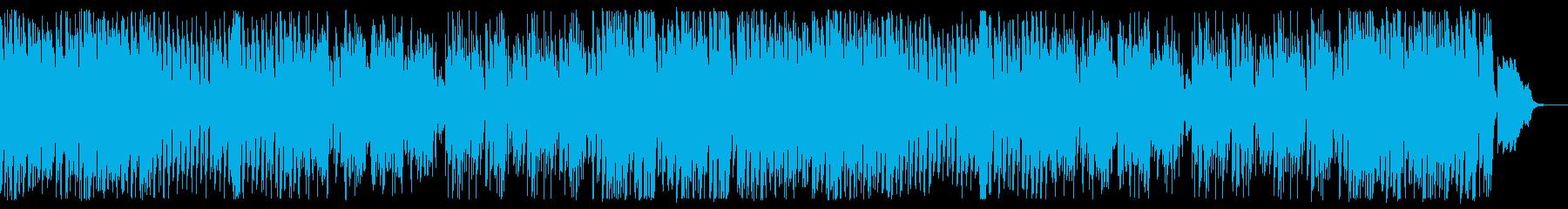ハロウィン、ダークな雰囲気の4つ打ちの再生済みの波形