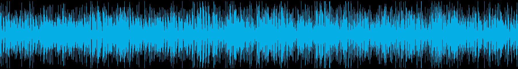 楽しいウキウキ系のレトロジャズ※ループ版の再生済みの波形