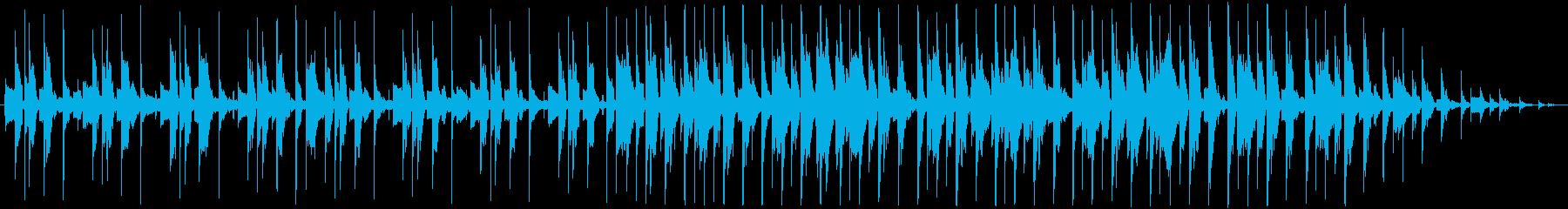 冷静になる 。ピアノメロディーの再生済みの波形