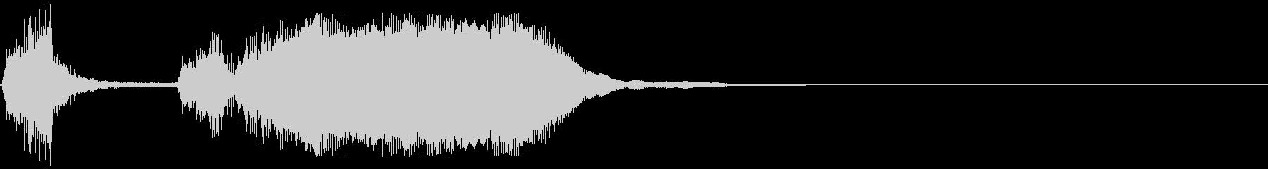 シンプルなファンファーレ7の未再生の波形