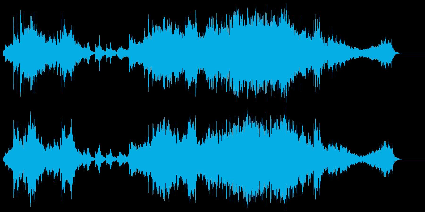 ハープが美しい壮大なバラードEDの再生済みの波形