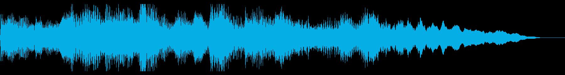 日本的なしっとりしたピアノジングルの再生済みの波形