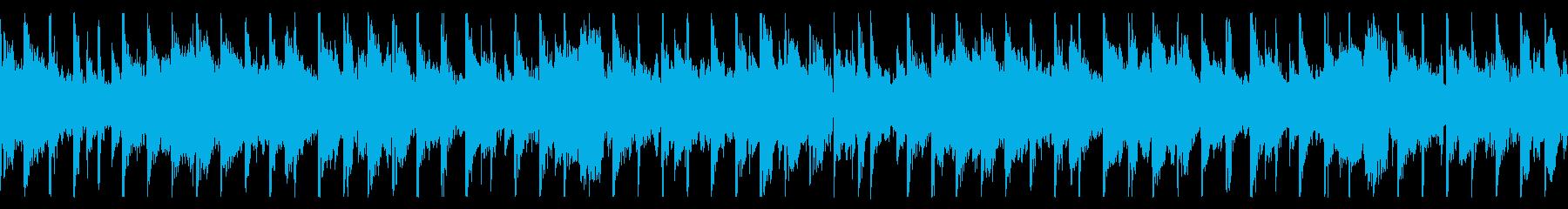 ローファイなチルBGMの再生済みの波形