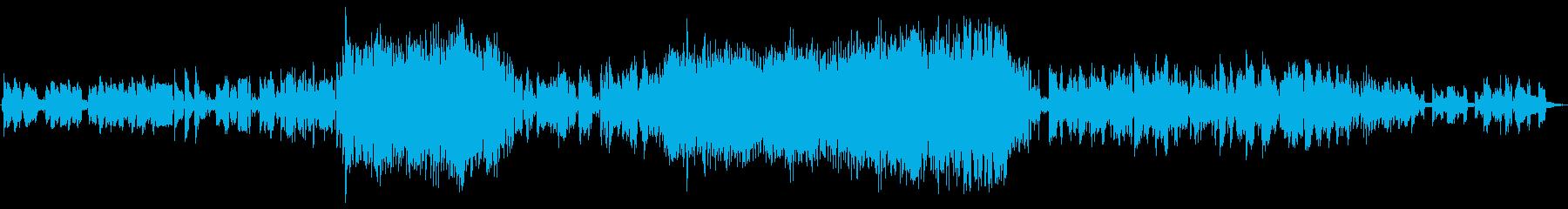ドリーミーで不思議な浮遊感のある曲の再生済みの波形
