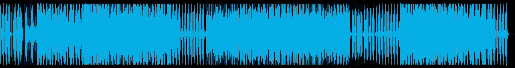 愉快なオーケストラサウンドのワルツの再生済みの波形