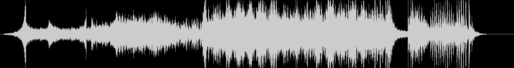 幻想的なシンセとピアノのアンビエント風の未再生の波形