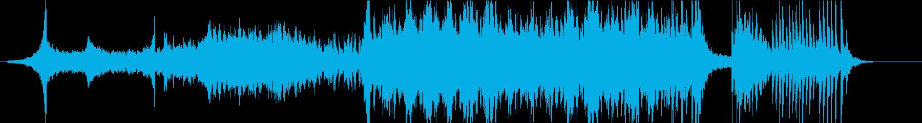 幻想的なシンセとピアノのアンビエント風の再生済みの波形
