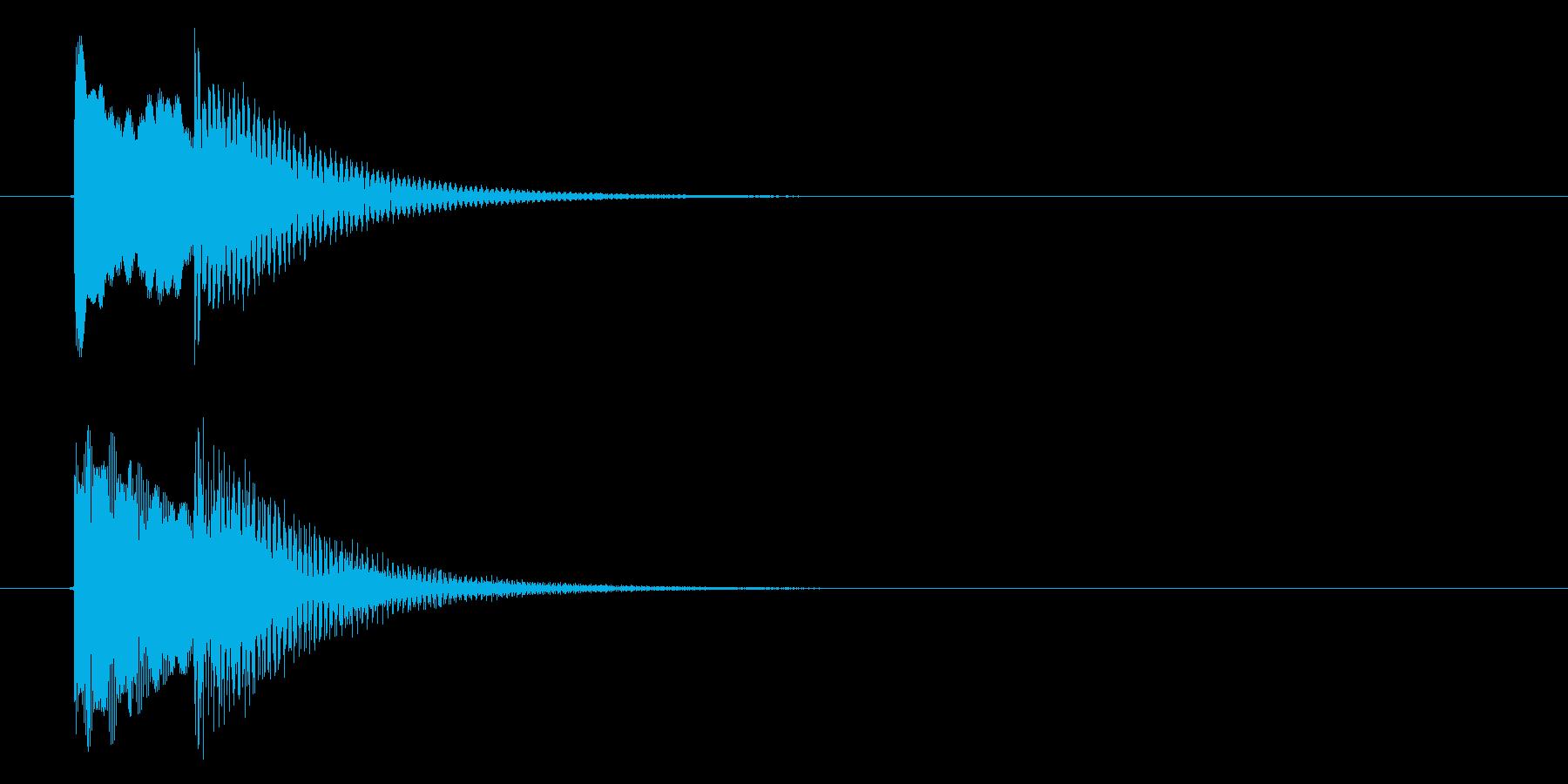 ポピンの再生済みの波形