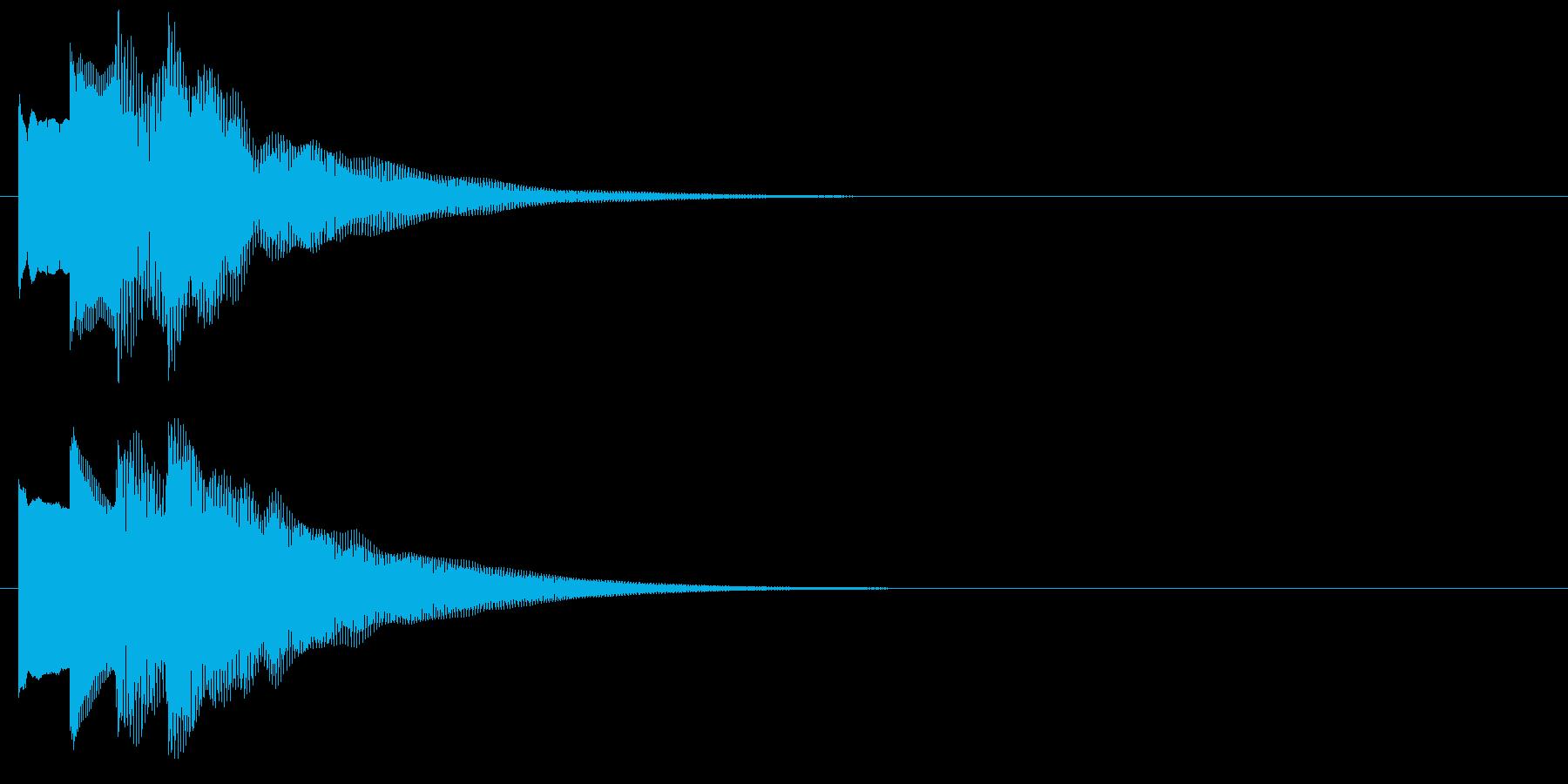 アラーム音04 ベル(sus4)の再生済みの波形