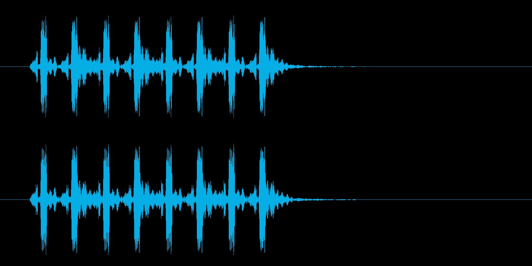 疾走感のあるミステリアスな音楽の再生済みの波形